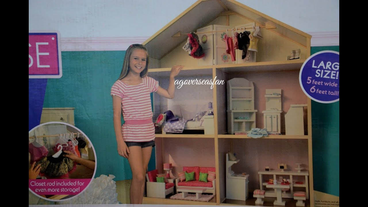 My girl s dollhouse for american girl doll opening for Accessory house