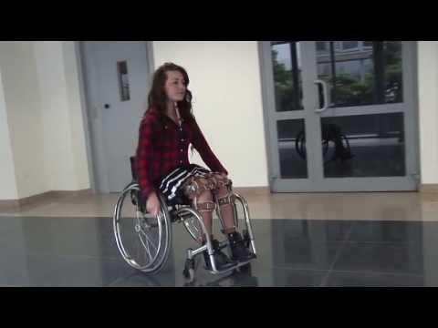 Angie with leg braces