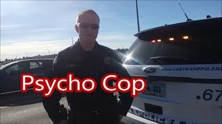 Cheyenne Psycho Police Officer Meets New First Amendment Auditor REACTION!!!