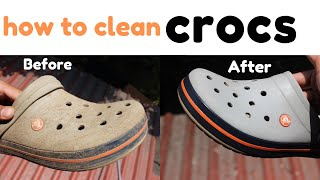 How to clean crocs  in 2 minutes