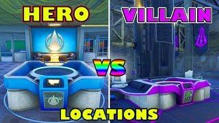 *SECRET HIDDEN* SUPER HERO & VILLAIN LAIRS! (LOCATIONS) Fortnite Battle Royale Season 4