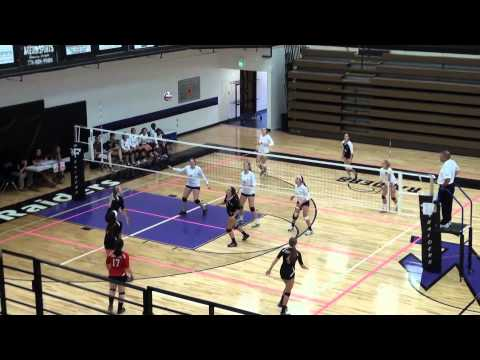 [18] Forsyth Challenge | Forsyth Central HS Girls Varsity Volleyball vs Stratford Academy (Set 2) - 08/29/2014