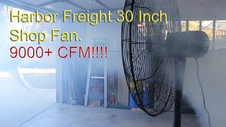 Harbor Freight Shop Fan 9000+ CFM | Central Machinery | Review