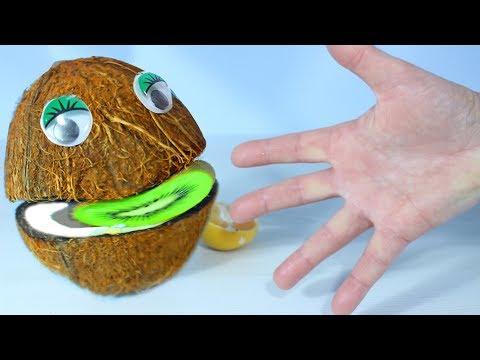 Весёлая Песенка про пальчики Учим цвета и названия фруктов с Мистером Кокосом