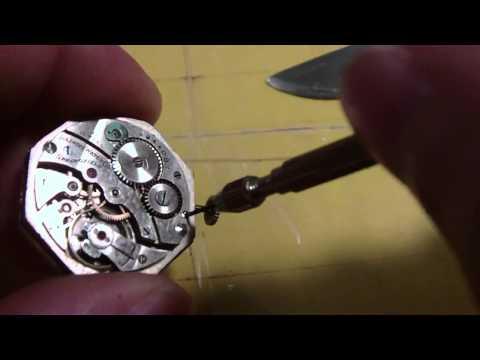How I Fit a stem to a wrist watch. Illinois Watch Company