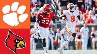 #3 Clemson vs Louisville Highlights | NCAAF Week 8 | College Football Highlights