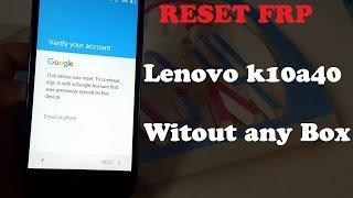 Lenovo k10a40 Frp Remove Google Account
