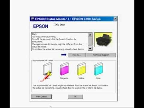 Reset o nível de tintas L100. L110. L200. L210. L300. L350. L355. L800 Grátuito