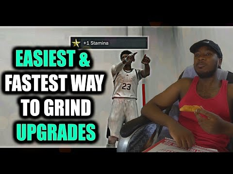 EASIEST FASTEST WAY TO GRIND PLAYER UPGRADES IN NBA 2K17! BE LIKE WAFFLE & PUT THE CONTROLLER DOWN!