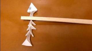 Origami Chopstick Rest Of Fishbone