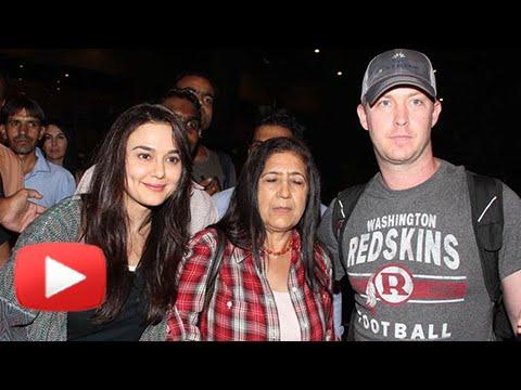 (VIDEO) Preity Zinta Gene Goodenough At Mumbai Airport | Wedding Reception