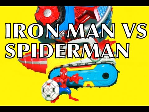 Spidey SPIDERMAN VS IRON MAN Marvel Super Hero Repulsor Drill AllToyCollector