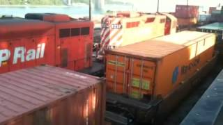 Best EMD sound to hear Canadian Pacific CP with some EMD GP