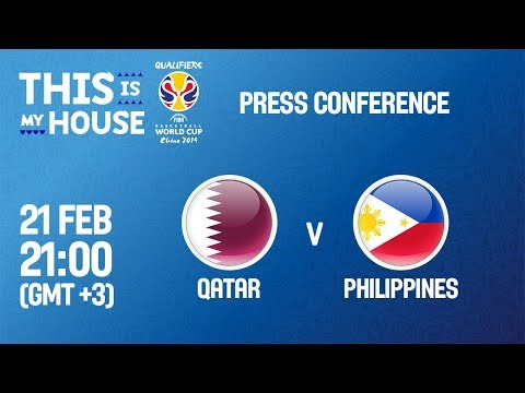 Qatar v Philippines - Press Conference - FIBA Basketball World Cup 2019 Asian Qualifiers thumbnail