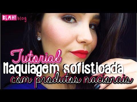 Maquiagem sofisticada usando apenas produtos Nacionais (e baratinhos!) - Tutorial | Blah!Blog