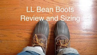 LL Bean Bean Boots Review and Sizing