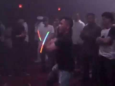 Actor Reel Joe Huu Nguyen raving glowsticks at Webster Hall Nightclub NYC SAG