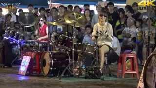 【無限HD】4K畫質 曼青 羅小白 豆豆龍 爵士鼓 Gentleman(4K 2160p)@凱旋夜市爵士鼓表演🏆