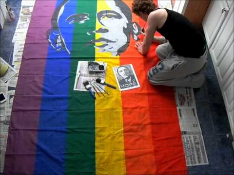 OBAMA GAY MARRIAGE ART! Nathan Wyburn. READ: Here I create a portrait of ...