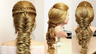 2 Simple Hairstyles For Party.  Hair Tutorial