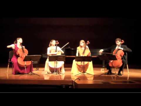 Werner Chamber Quartet Playing Chaconne from Partita No. 2 in D minor