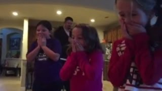 Parents Surprises Daughters with Adopted Brother Under The Christmas Tree