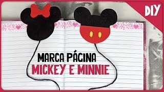 Marca página do Mickey e Minnie =DiY