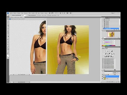 Photoshop Tutorial - ( Fotomontaje ) Como Ocupar el Filtro Extraer