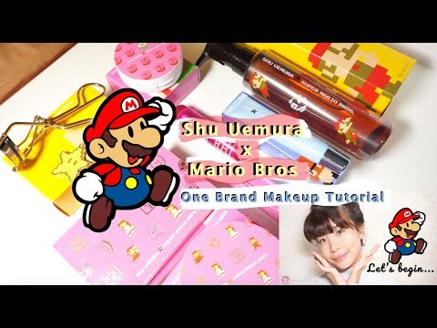 One Brand Makeup Tutorial ft. Shu Uemura X Super Mario Bros Holiday Collection 2017 - YouTube