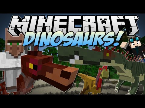Minecraft   DINOSAURS! (Enter the Jurassic Dimension!)   Mod Showcase