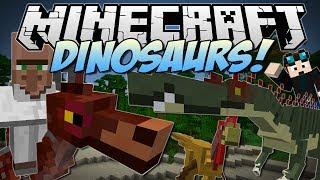 Minecraft | DINOSAURS! (Enter the Jurassic Dimension!) | Mod Showcase