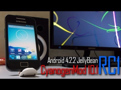 CyanogenMod 10.1 RC1 Android 4.2.2 JellyBean on Samsung Galaxy Ace GT-S5830