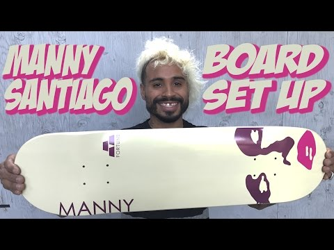 MANNY SANTIAGO BOARD SET UP & INTERVIEW !!!