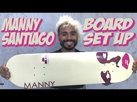 MANNY SANTIAGO BOARD SET UP & INTERVIEW !!!