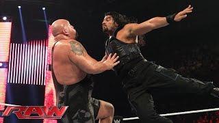 ලොකු අයියා Romanගෙන් ඉල්ලන් කයි.. Roman Reigns vs. Big Show: Raw, January 5, 2015