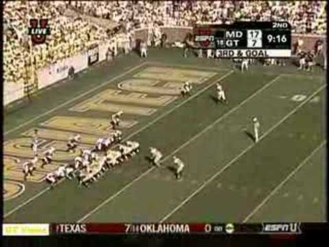 Tashard Choice scores a touchdown against Maryland Video