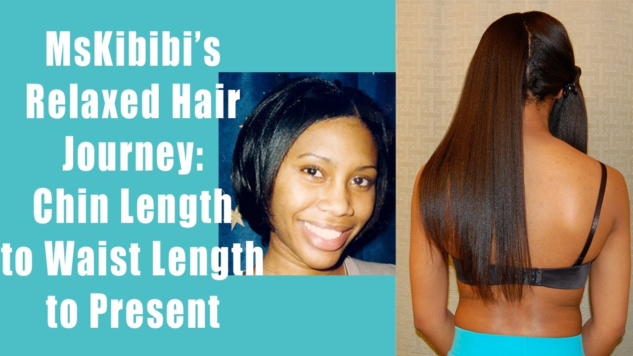 Long relaxed hair
