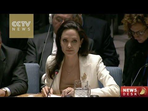 Angelina Jolie appeals to U.N. to help Syrian refugees