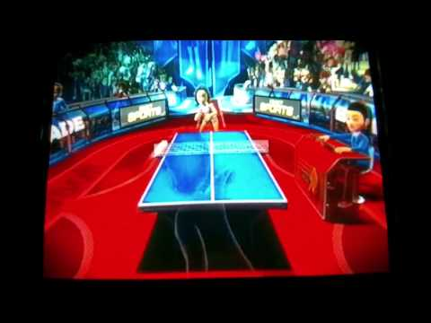 Kinect Sports: Intense Table Tennis (Champion difficulty) Match [HD]