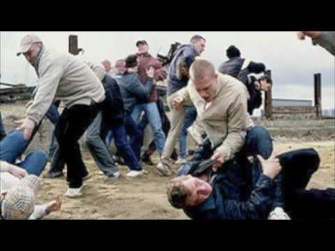 White gang beats up black gang in street fight. Ghetto hood fight Image 1