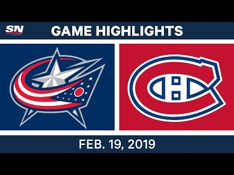 NHL Highlights  Blue Jackets vs. Canadiens - Feb 19, 2019