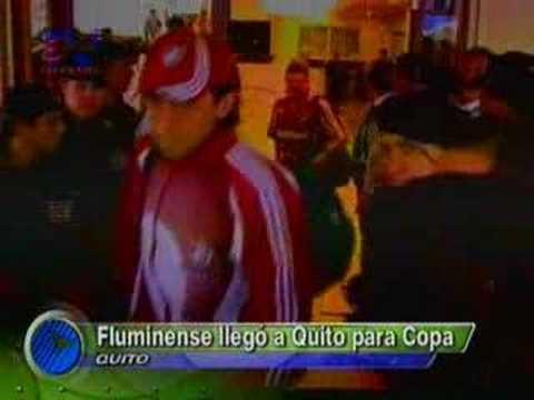 Fluminense llegó a Quito para Copa