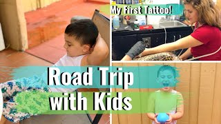 Packing, Road Trip with Kids + Getting my First Tattoo