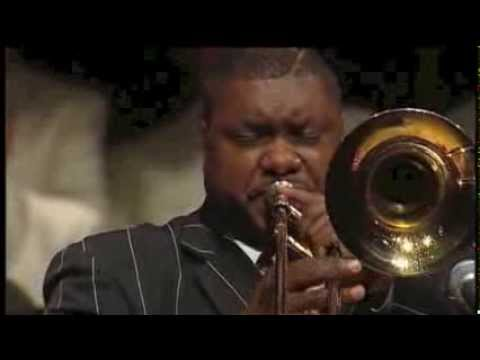Jazz trombone artist Wycliffe Gordon performing as guest soloist with Cory Band conducted by Robert Childs in St David's Hall Cardiff on 20th June 2009. This...