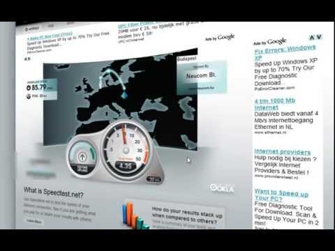 UPC Fiber Power 90 Mbps Broadband Internet Speedtest.net