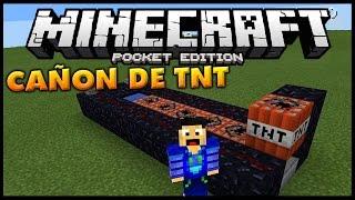 COMO HACER UN CAÑON DE TNT! - Tutorial - Minecraft PE 0.13.0 (Pocket Edition)