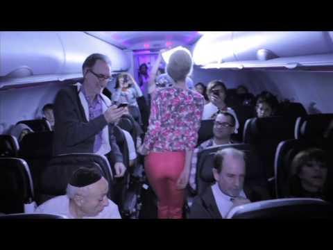 Attention: Banana Republic & Virgin fashion show in-flight