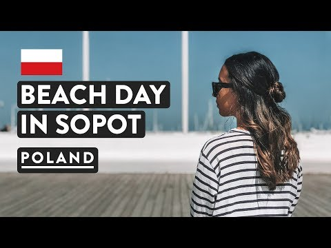 LARGEST WOODEN PIER IN EUROPE! Sopot Beach Day From Gdansk | Poland Travel Vlog