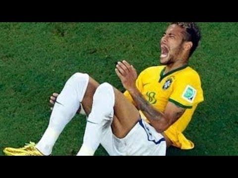 ТРАВМА НЕЙМАРА УКУС СУАРЕСА ПЕРЕЛОМ НОГИ=БЕСПРЕДЕЛ СУДЕЙ ФИФА НА ЧМ 2014