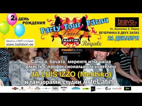 BAILE-bon PARTY-ТУР В ПЯРНУ 21 ДЕКАБРЯ в клубе BRAVO